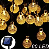 Solar Garden Lights, 60 LED Outdoor String Lights Crystal Ball Fairy Lights Solar Powered 36Ft Waterproof Decorative Lighting