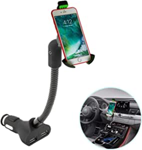 Airena Car Mobile Phone Holder Mobile Phone Holder Car With 3 4 A 2 Port Usb Cigarette Lighter Charger For Iphone X 8 7 6s 6 Plus 5 Galaxy S8 S7 S6 S5 S4 Huawei Nexus Xperia Lg Htc And Gps Naivs Devices Navigation Car Hifi