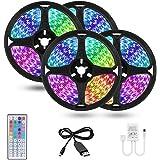 Ghopy 20M Ruban à LED Bande 3528 RGB USB Bande Lumineuse Flexible Multicolore avec Télécommande Sync avec Rythme de Musique/F