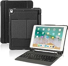 Feelkaeu Neues iPad 9.7 2018 iPad Pro 9.7 Keyboard Case mit Stifthalter Wireless Bluetooth-Tastatur mit Stoßfester Hochleistungs-Rückabdeckung Füripad Pro 9.7/iPad 9.7 2018/2017/iPad Air/Air 2