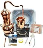 CopperGarden® Destille Essence Plus ❁ 2 Liter Kolonnenbrennerei ❁ legal in DE, at, CH ❁Sorgenfrei Vollausstattung für Neueinsteiger