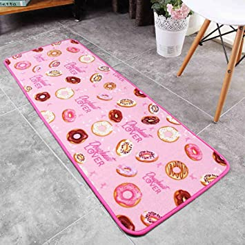 Amazon.de: YYF Teppich Donut Pink Indoor Moderne Küche Teppiche Anti ...