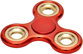 Citra Chrome Metal Build with Golden Rings Heavy Quality Fidget Spinner(Color May Vary)