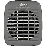 Ufesa CF2000IP - Calefactor Vertical 2000W, con Protección IP21, Sistema Seguridad Antivuelco, 3 Modos: 2 Niveles de Potencia