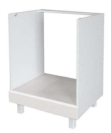 Berlenus küchen unterschrank hochglanz weiß 60 x 52 amazon de
