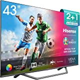 Hisense 43AE7400F UHD TV 2020 - Smart TV, Resolución 4K, Dolby Vision, Wide Color Gamut, audio DTS Virtual-X, Ultra Dimming,