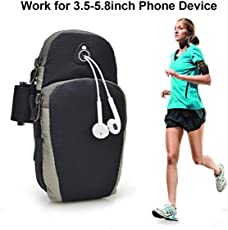 Cable World® Waterproof Sport Armband Running Jogging Gym Arm Band Case Cover for Mobile iPhone 6s 6 Plus Phones Till 5.7 inches