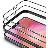 TAMOWA 2-pack skärmskydd för iPhone 12 Pro/iPhone 12 (6,1 tum), 3D helskärm premium härdat glasskydd 9H okrossbar film med in