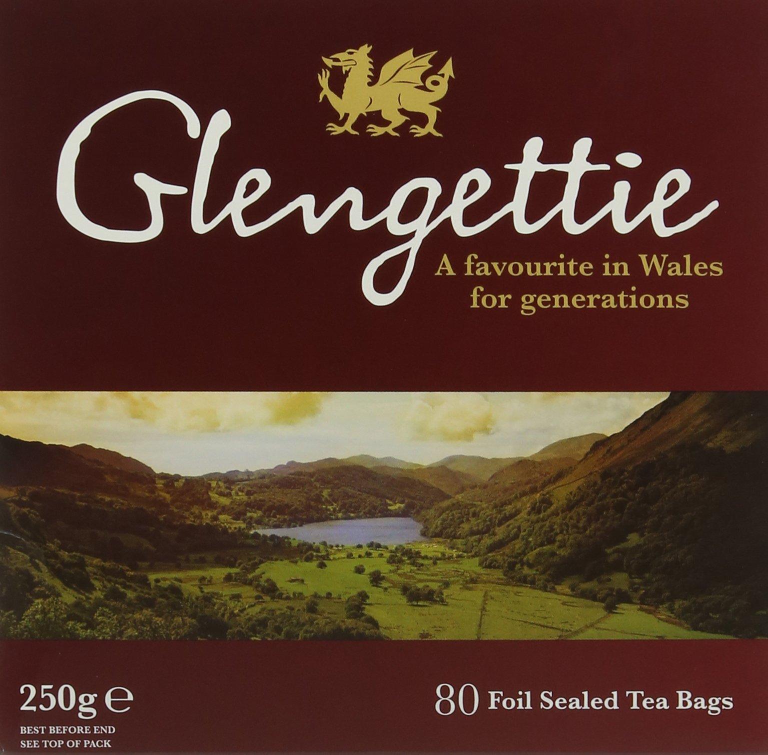 Glengettie everyday tea bundle (black tea) (everyday) (6 packs of 80 bags) (480 bags) (brews in 3-5 minutes)