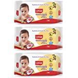 LuvLap Paraben Free Baby Wipes with Jojoba Oil (72 Wipes/Pack, Pack of 3)