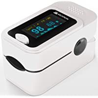 Arcatron Smart Pulse Oximeter, Fingertip Oxygen Saturation Monitor, SpO2 and Heart Rate Monitoring With LED Display (White)