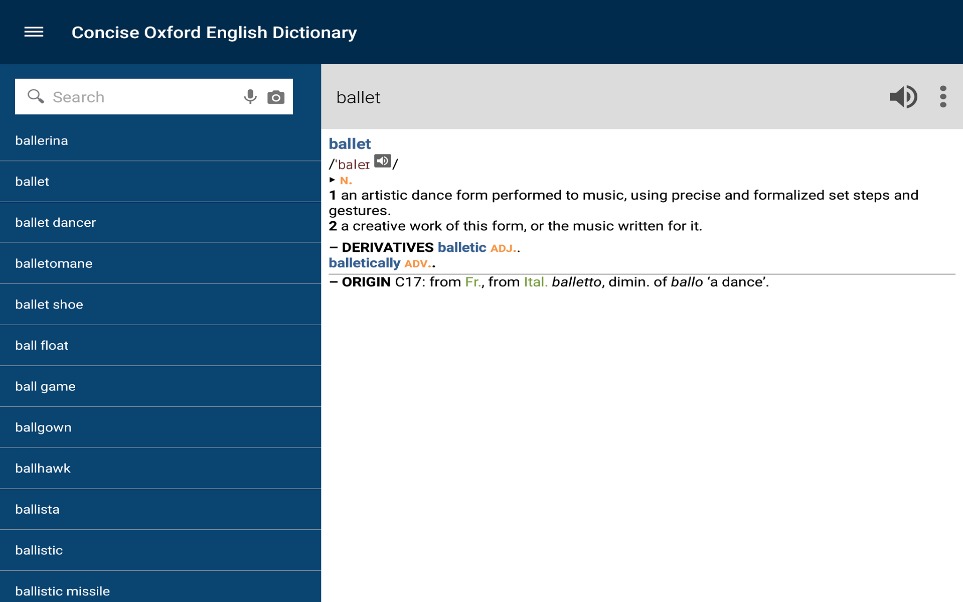 English dictionary with Audio