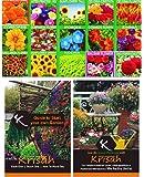 Krisah® (2790+) 15 Varieties of Flower Seeds with Easy Gardening Step Guide