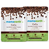 Mamaearth Coco Bamboo Sheet Mask for Fairness/Brightening - Pack of 2 (25 g x 2)
