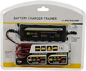 Dunlop Batterieladegerät Auto Motorrad Pkw Ladegerät Autobatterie 6/12V Trainer