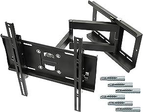 """RICOO Wandhalterung TV Schwenkbar Neigbar R23F Fischer® UX10 Dübel Universal LCD Wandhalter Fernseher und Monitor Halterung Curved Flachbildfernseher 80-165cm 32""""-65"""" Zoll/VESA 400x400"""