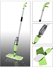 Maharsh Healthy Spray Mop - Floor Mop with Removable Washable Cleaning Pad and Integrated Water Spray Mechanism (Random Color)