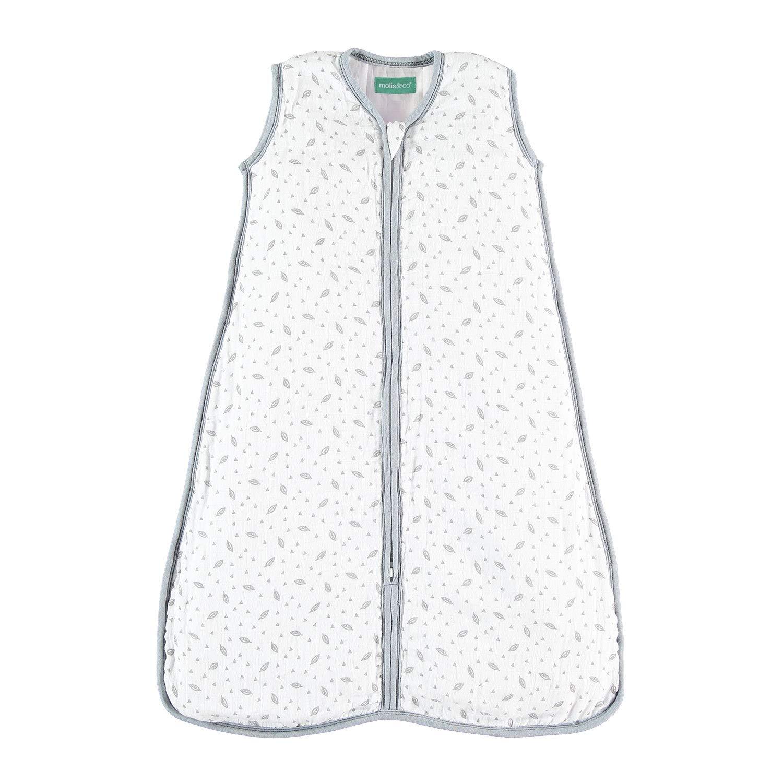 molis&co. Saco de Dormir para bebé. Ideal para Entretiempo. 1.0 TOG. Acogedor. Muselina Premium Acolchado.