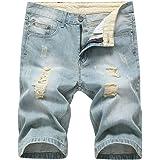 FRAUIT Pantaloncini Uomo Jeans Strappati Taglie Forti Pantaloncini Ragazzo Denim Tasconi Casual Plus Size Oversize Bermuda Ca