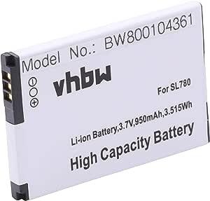 Vhbw Li Ion Akku 950mah 3 7v Für Schnurlos Festnetz Telefon Siemens Gigaset Sl450 Sl450h Sl450hx