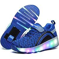 Scarpe con Rotelle Bambina LED Luci Lampeggiante Pattini a Rotelle Bambini Scarpe con Ruote Automatico All'aperto…