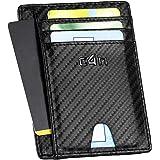 Portafoglio CASH4NEXT™ Slim-Porta Carte Di Credito Uomo Donna-Protezione RFID Schermato Anticlonazione-Fibra Di Carbonio-Port