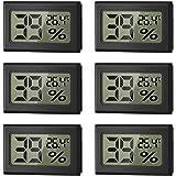 WeChip Mini Termómetro Higrómetro Digital Interior de Temperatura y Humedad, LCD Digital portátil Medidor de Humedad Interior
