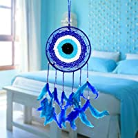 Reiki Crystal Products Evil Eye Dream Catcher Wall Hanging for Positive Energy and Protections 35 x 15 cm Approx