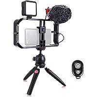 Smartphone Video Rig, Cassa per Cinematografia, Stabilizzatore per Smartphone Video, Treppiedi e Impugnatura per video…