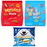 Mini Biscuits 18 pack Bundle mini cookies. Maryland choc chip, Party Rings, Iced Gems. Small Treat Bags for Parties…