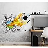 Aoligei 3D Fútbol Pegatinas de pared Sala de estar Dormitorio Calcomanía Dibujos animados Niños Adolescentes Niños Habitación
