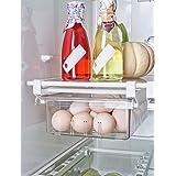 AIKZIK Tiroirs de réfrigérateur réglables - Tiroirs de rangement pour réfrigérateur - Organiseur extensible pour tiroir de ré