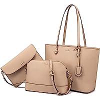 LOVEVOOK Handtasche Damen Schultertaschen Handtasche Tragetasche Damen Groß Designer Elegant Umhängetasche Henkeltasche…