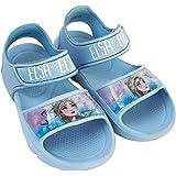 Sandalias Frozen Elsa para Niñas - Sandalias Disney Frozen con Velcro para Playa o Piscina