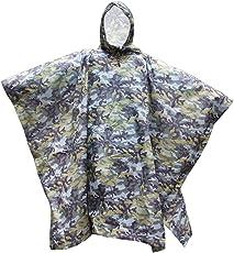 Generic Waterproof Bionic Raincoat Poncho Hunting Camping Hiking Camouflage Yellow