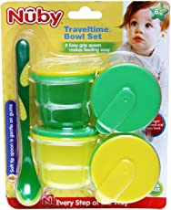 Nuby Micro Traveltime bowl Set (Multicolor)