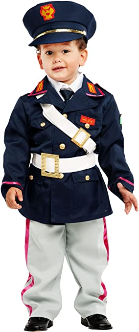 COSTUME di CARNEVALE da PICCOLO POLIZIOTTO vestito per neonato