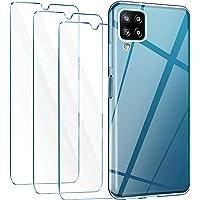 Leathlux Cover Compatibile con Samsung Galaxy A12 Trasparente con 3 Pellicola Vetro Temperato, Morbido Silicone…
