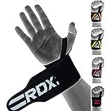 RDX Fasce Polsi Sollevamento Pesi Cinghie con Passante Pollice | Approvato da IPL e USPA | Palestra Supporto Polso per Allena