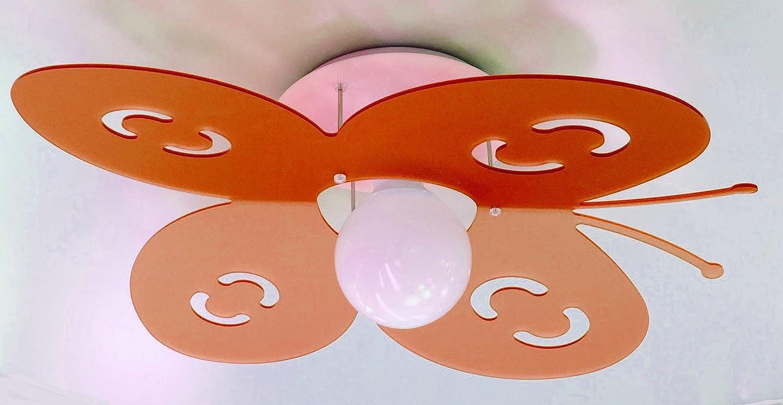 Farfalla   lampadario per camera cameretta bambina bimba ...