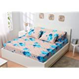 Utopia Textile Bed Sheet Set, 5 Pieces - Turquoise and Beige