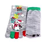 Weihnachten Baumwolle Socken, Quaan Komisch 3D Mehrfarbig Zehe Socken Fünf Finger Gedruckt Beiläufig Niedlich Knöchel weich gemütlich Licht elastisch Deodorant Anti Unterhose Schlafsocken