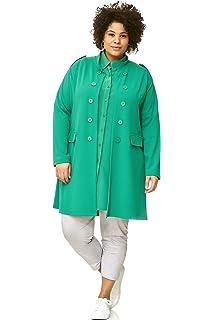 sheego Mantel Gehrock Blazer Jacke Oversize Look Damen Plusgr/ö/ße Lagenlook