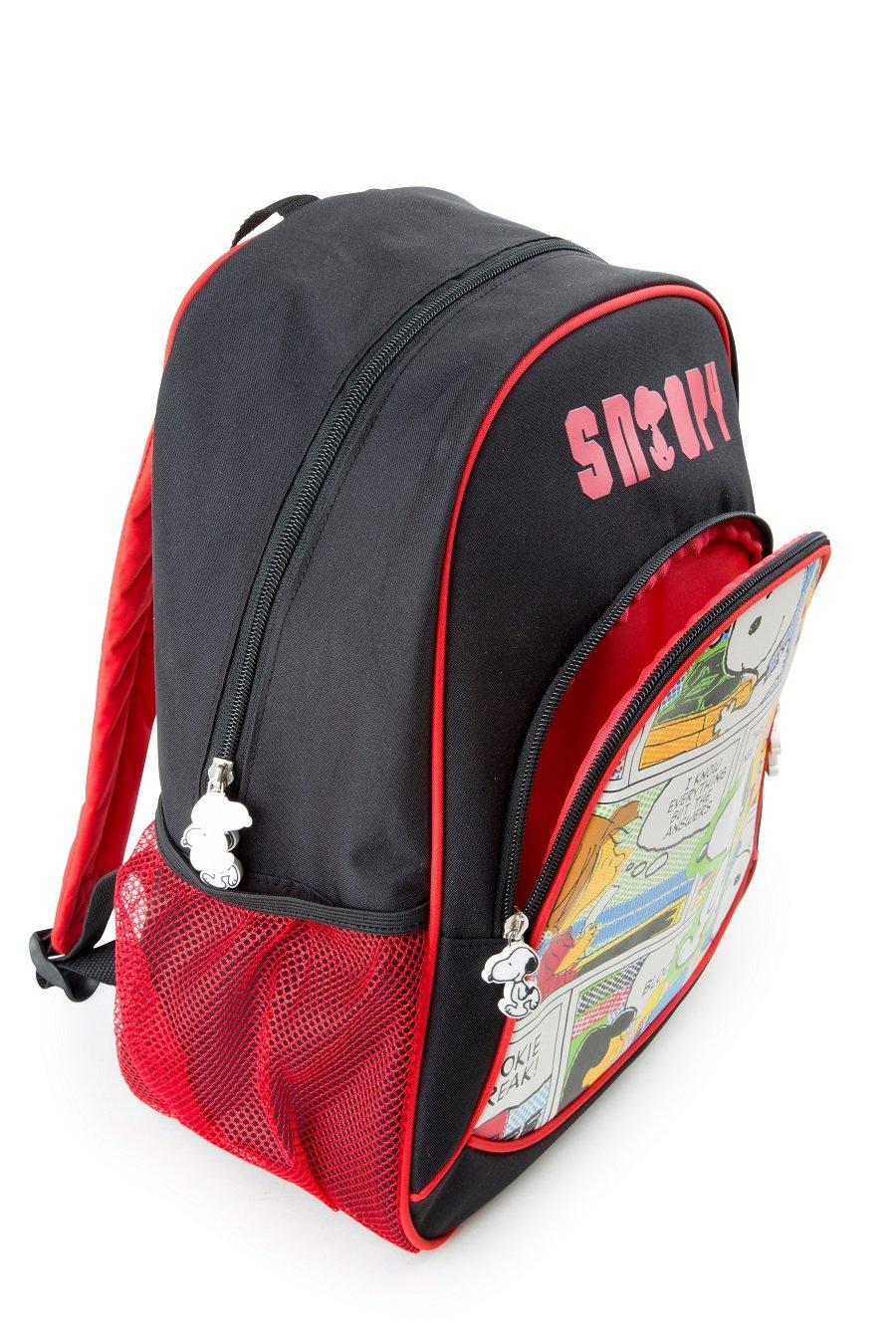 71ua4j0ybkL - Mochila escolar Snoopy para niños mochila mochila escolar | incluye dos bolsillos de malla a los lados y mucho espacio de almacenamiento | acolchado óptimo de las correas de transporte | tamaño aprox