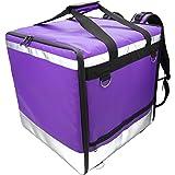 Lollipoper: Sac à dos Isotherme 45x45x45 cm pour la livraison alimentaire à domicile imperméable violet, pizza, hamburger, bo