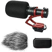 Zhiyou Comica CVM-VM10II Mini Shotgun Vidéo Microphone, Condenseur Directionnel Cardioïde pour Camera Reflex DSLR Canon Sony Nikon Caméscope, Gorpo, Smartphones, Gimbals DJI et Zhiyun (Rouge)
