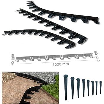 rasenkante pflasterkante rasenbord baumring 1 m incl 10 n gel pp45 garten. Black Bedroom Furniture Sets. Home Design Ideas