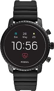 Fossil FTW4018  Gen 4 Explorist HR -Smartwatch digitale da uomo con Cinturino in Silicone, Nero