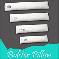 Adams Home Premium Hollowfiber Filled Bolster Pillow (Single, 3FT-R) - Non-Allergenic Orthopedic Long Pillow for Back, Neck, Maternity Support- Multi-purpose Pregnancy Support Pillow - Made In UK