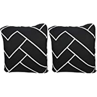 House of Quirk Polyester Throw Pillow Case Cushion Cover Home Sofa Decorative (16.5x16.5 inch/ 42x42cm) Prints 2 Cushion…